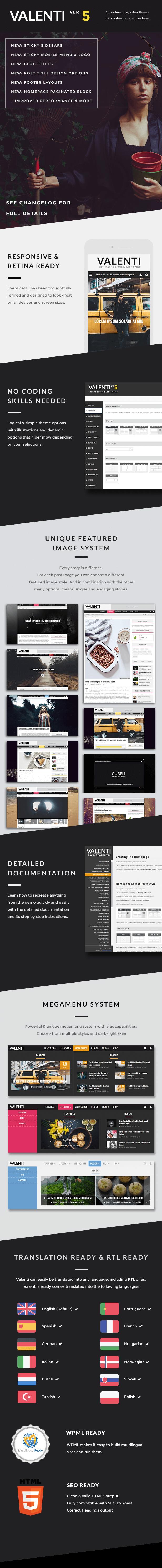 Tema de la revista Valenti WordPress para 2015